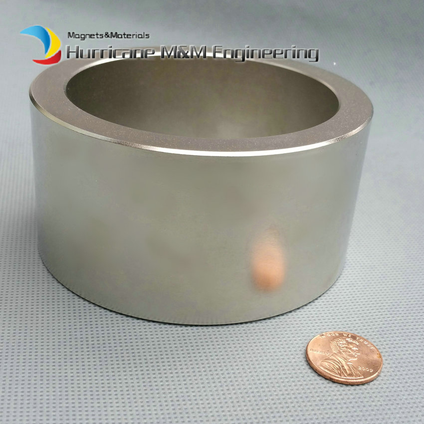 4 Large NdFeB Magnet Ring OD 100x80x50mm thick Strong Neodymium Permanent Magnets Rare Earth Magnetic Tube Precision ndfeb n42 magnet large disc od 100x10 mm with m10 countersunk hole 4 round strong neodymium permanent rare earth magnets