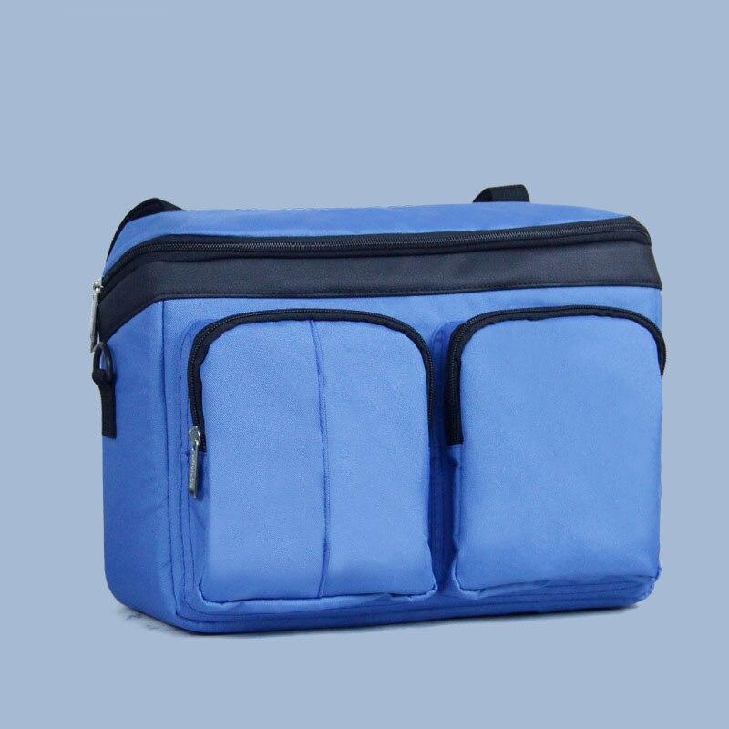 Diaper Bag For Baby Stuff Nappy Bag Stroller Organizer Baby Bag Mom Travel Hanging Carriage Pram Buggy Cart Two Bottle Bag - Цвет: Blue
