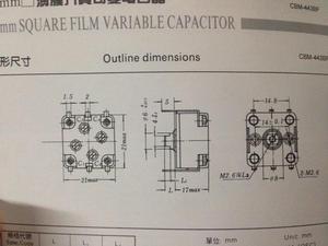 Image 2 - 10PCS 20PCS Radio Film Variable Capacitor 270p Twin 20PFM CBM 443BF CBM443BF