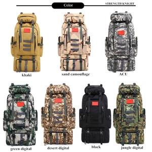 Image 4 - 80L большой емкости мужской военный рюкзак многофункциональный водонепроницаемый Оксфорд поход рюкзаки для кемпинга износостойкий дорожный рюкзак