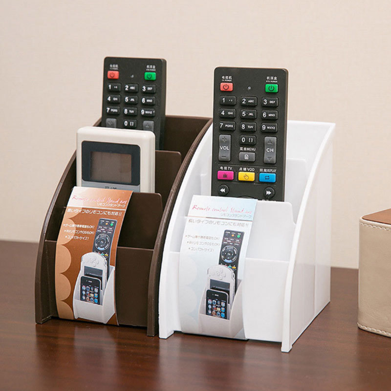 Plastic TV <font><b>Remote</b></font> Control Storage Holder Mobile Phone Holder Stand Washable Home Office Storage Boxes Desktop Storage Case image