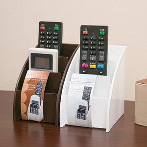 Image 2 - Soporte de plástico para mando a distancia de TV, soporte para teléfono móvil, cajas de almacenaje para oficinas, estuche de almacenamiento para escritorio