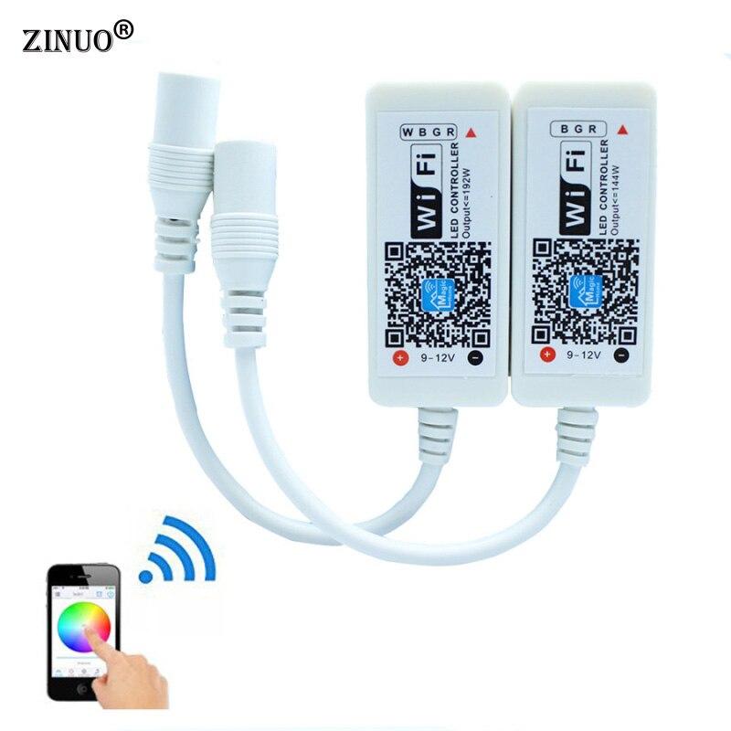ZINUO Magic Startseite Mini RGB RGBW Wifi Controller Für Led-streifen Panel licht Zeitfunktion 16 millionen farben Smartphone Steuerung