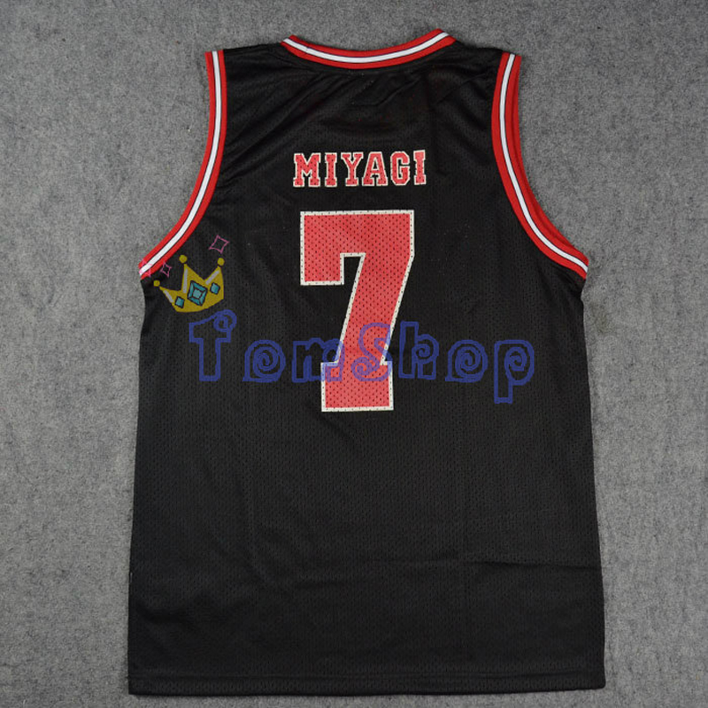 Image 2 - SLAM DUNK Cosplay Costume Shohoku #7 Ryota Miyagi Black Basketball Jersey Tops Shirt Vest Sportswear Athletic Uniform Size M XXLslam dunk cosplaycosplay costumecostume cosplay -