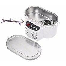 600 мл мини Ультразвуковой очиститель ювелирных очков Очиститель для монтажной платы машина умный контроль Ультразвуковой очиститель для ванной