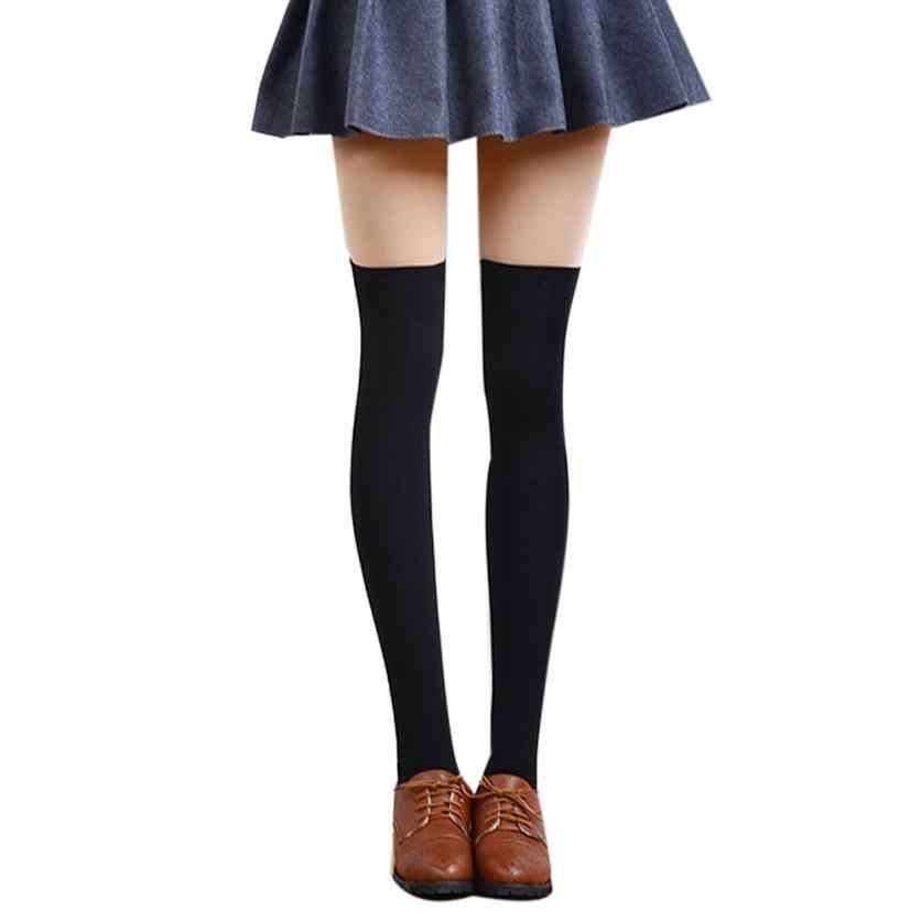 Nouvelle arrivée mode féminine Sexy belle cuisse haute sur le genou chaussettes populaires longs bas de coton livraison gratuite Meias