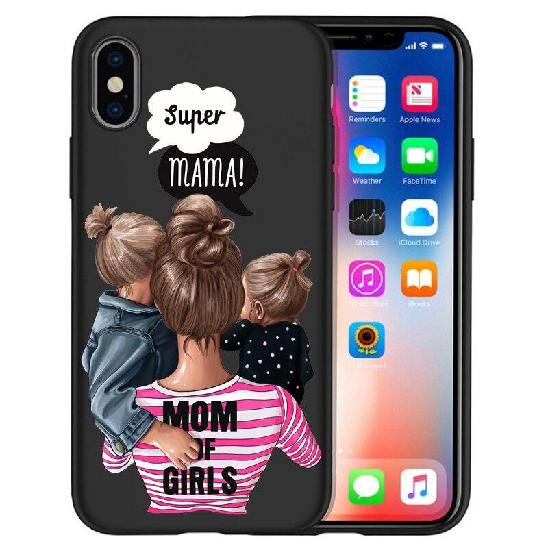 Чехол для iPhone X, модный, супер мама, девочка, для Iphone 5, 5S, 6, 6 S, 7, 8 Plus, X, XS, Max, XR, мягкий силиконовый чехол, Etui - Цвет: 07