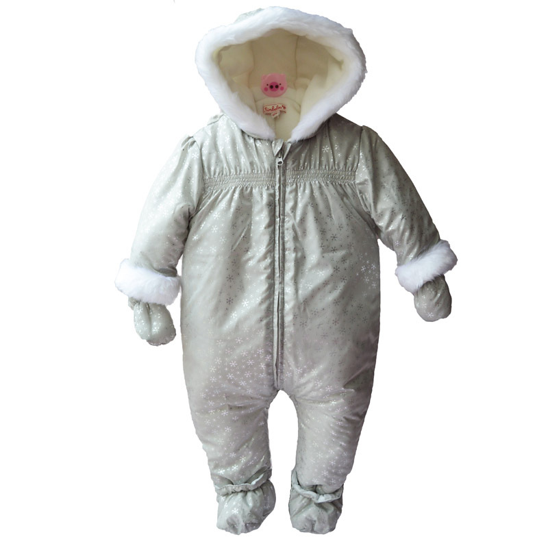 MY ZUVA Store baby Winter clothes Newborn  Boy Girl Rompers kids  Jumpsuit Hooded romper Kid Outerwear clothes az305