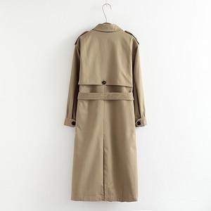 Vee Top frauen casual einfarbig zweireiher outwear mode schärpen büro mantel chic epaulet design langen graben 902229
