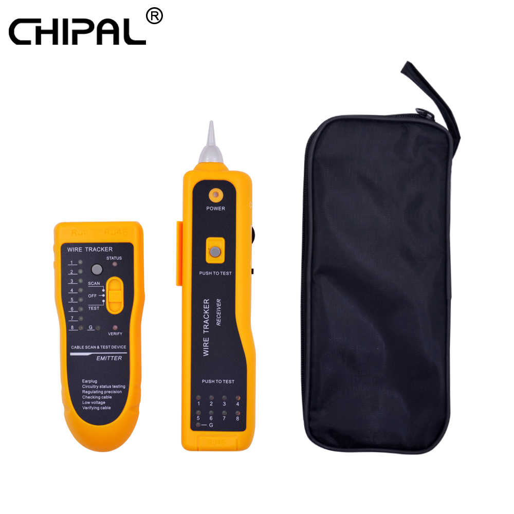 CHIPAL JW-360 probador de Cable de red LAN diagnosticar tono Cat5 Cat6 RJ45 UTP STP LÍNEA DE RJ11 Teléfono Cable Tracker rastreador