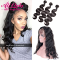 360 Lace Frontal With Bundle Indian Virgin Hair 360 Frontal With Bundles Top 360 Lace Frontal Closure With Bundles Human Hair