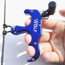 1pc Archery 3 Finger Release Automatic Stainless Steel Compound Bow Grip RH Caliper Aids Arrow 4 Colors choice