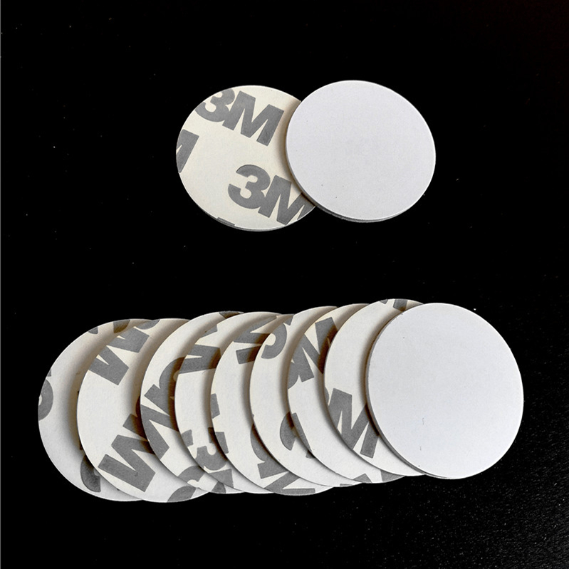 125KHZ T5577/T5557/T5567/T5200 Rewritable RFID Coin Card With 3M Adhensive Sticker In Access Control Card (Diameter 25mm)