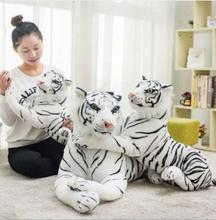 WYZHY Plush Toy Tiger Doll Lumbar Pillow Christmas Gift Simulation Doll Holding Sleeping Pillow60cm simulation white tiger plush toy large 85cm prone tiger doll throw pillow toy birthday gift xmas gift d2583