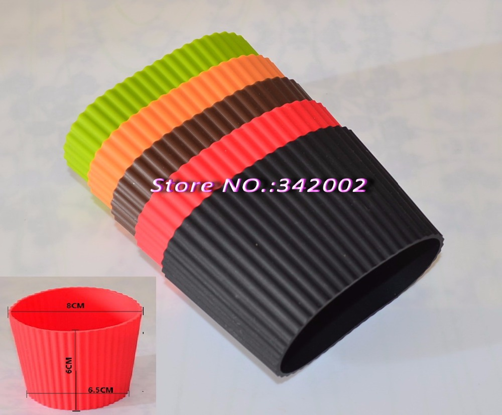 2pcs Lot Silicone Wraps For Coffee Mug Silicone Cup