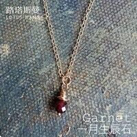 Lotus Mann En Janvier une naissance pierre grenat pendentifs collier en or