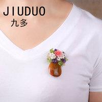 Jiuduoパールブローチファッションレディースペン