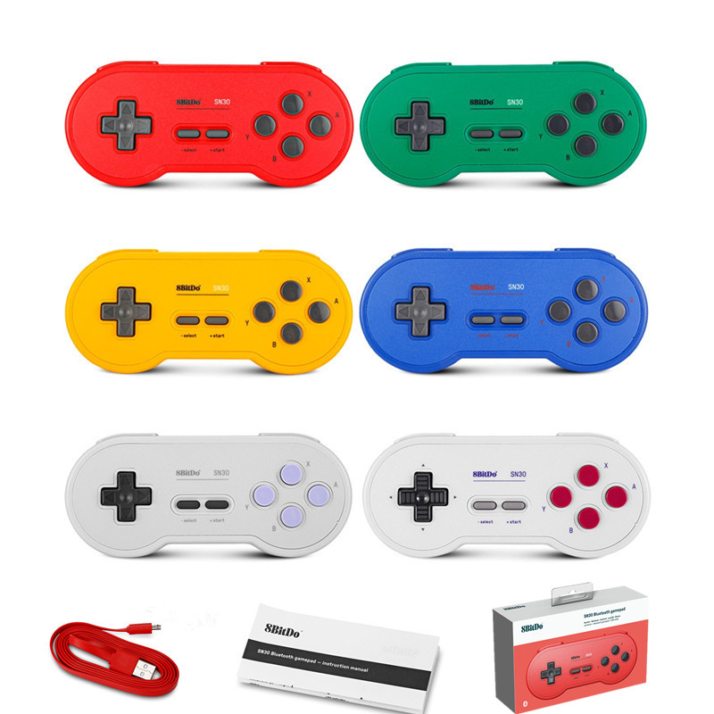 8Bitdo SN30 Bluetooth Wireless Controller GP Red Yellow Blue Green G Edition SN Edition Support Android MacOS Switch Gamepad free shipping 8bitdo fc30 bluetooth wireless controller support switch android macos gamepad with xstander