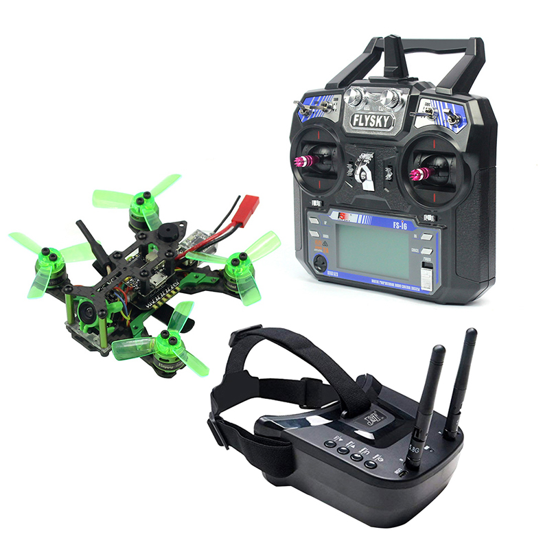 Квадрокоптер Mantis85 85 мм 6CH 2,4G RC FPV Micro Racing, 600TVL камера VTX, двойная антенна, 5,8G 40ch мини-видео очки RTF