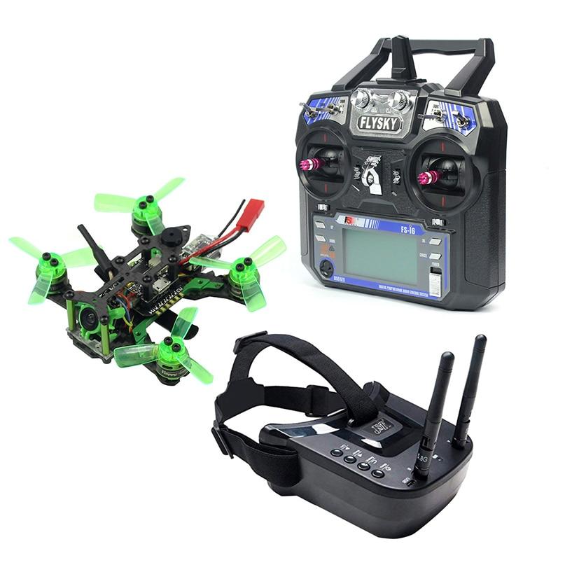 Mantis85 85mm 6CH 2.4G RC FPV Micro Racing Drone Quadcopter 600TVL Camera VTX Dual Antenna 5.8G 40ch Mini Video Goggles RTF