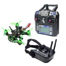 Mantis85 Mini Dron de carreras, cuadricóptero 6CH 2,4G RC FPV, 600TVL, cámara VTX, antena Dual, 5,8G, 40ch, gafas RTF
