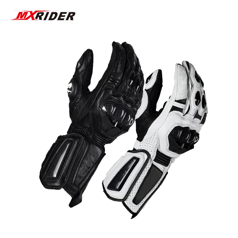 2018 new Carbon Fiber Motorcycle Gloves Leather Glove Men Cycling Racing Guantes Moto Motorbike Luvas Free shipping pro biker mcs 04 motorcycle racing half finger protective gloves red black size m pair