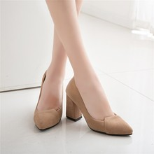 Spring New Arrival Drop shipping Work Shoes Fashionable Camel Gray High heel Women Shoes