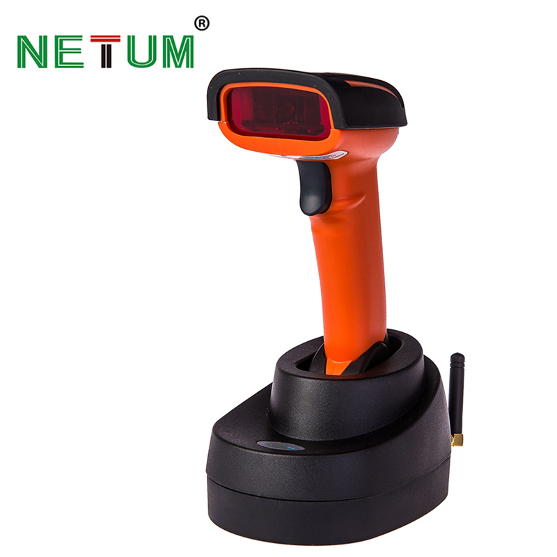 Portable Handheld Wireless Barcode Reader Cordless Bar Code Scanner with Memory Inventory for POS System NT-2800