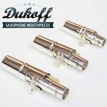 Профессиональный Dukoff тенор сопрано альт саксофон металлический мундштук посеребренный мундштук Sax Dukoff рот штук 56789