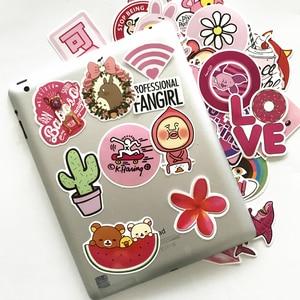 Image 5 - TD ZW 50Pcs Pink Girl Cute Cartoon Stickers For Skateboard Laptop Luggage Fridge Phone Styling Sticker