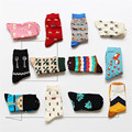 Brand Caramella Novelty Women Men Kawaii Cartoon Long Socks Funny Egg Wolf Fox Dachshund Art Sock Lovers Crazy Cotton Socks