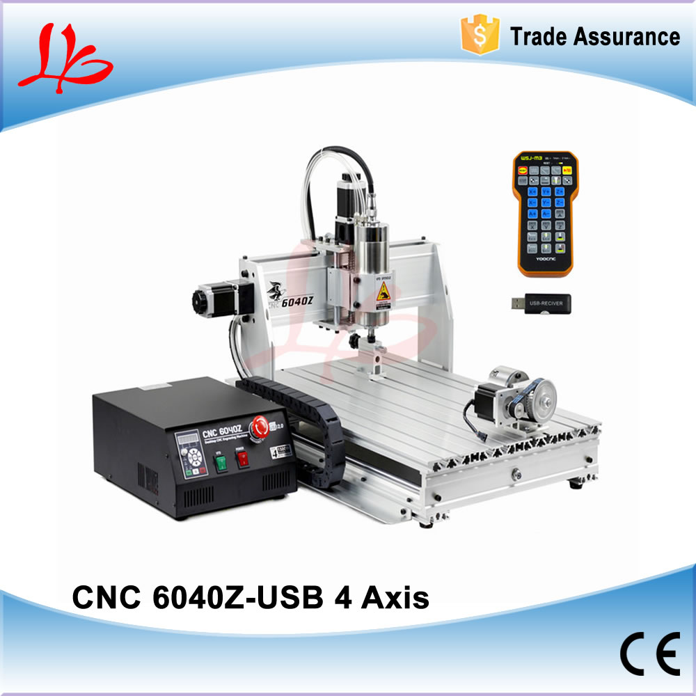 4 Axis Limit Switch CNC Milling Machine CNC 6040 Wood Router 2.2KW Spindle CNC Metal Engraving Machine cnc milling machine 4 axis cnc router 6040 with 1 5kw spindle usb port cnc 3d engraving machine for wood metal
