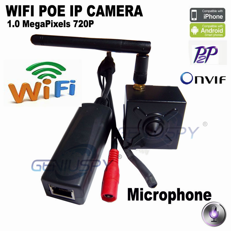 720P HD Pin hole Mini IP Camera Wifi IP Camera POE ONVIF P2P Mini Camera Network Mini POE IP Camera With Audio Extra Microphone cctv surveillance mini ip webcam 720p onvif p2p hd poe ip camera audio indoor security web camera network with mic microphone