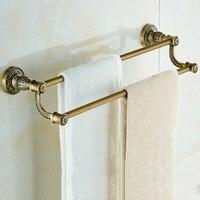 Vidric Vintage Design White/Antique Double Towel Bar Continental Bathroom Accessories Sanitary Wares Towel Rack Towel Sh