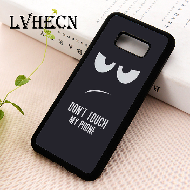 LvheCn phone case cover for Samsung Galaxy S5 S6 S7 S8 S9 S10 EDGE PLUS S10e lite Note 5 8 9 Grumpy Monster Don't Touch My Phone thumbnail