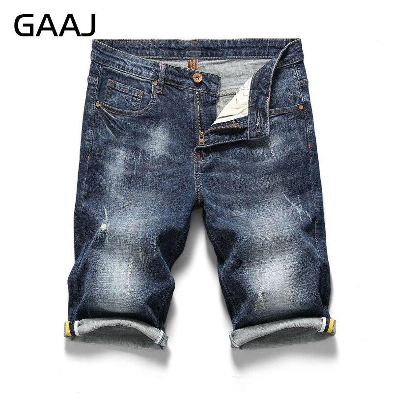 Bermuda jeans shorts stretch denim breve Capri Pantaloni Estate 1700 Uomo