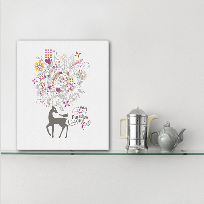 Frameless Flower and Deer DIY Picture Canvas Painting Oil Painting Print Naturally Home Decor Art Wall For Living Room gift-in Painting \u0026 Calligraphy from ... & Frameless Flower and Deer DIY Picture Canvas Painting Oil Painting ...