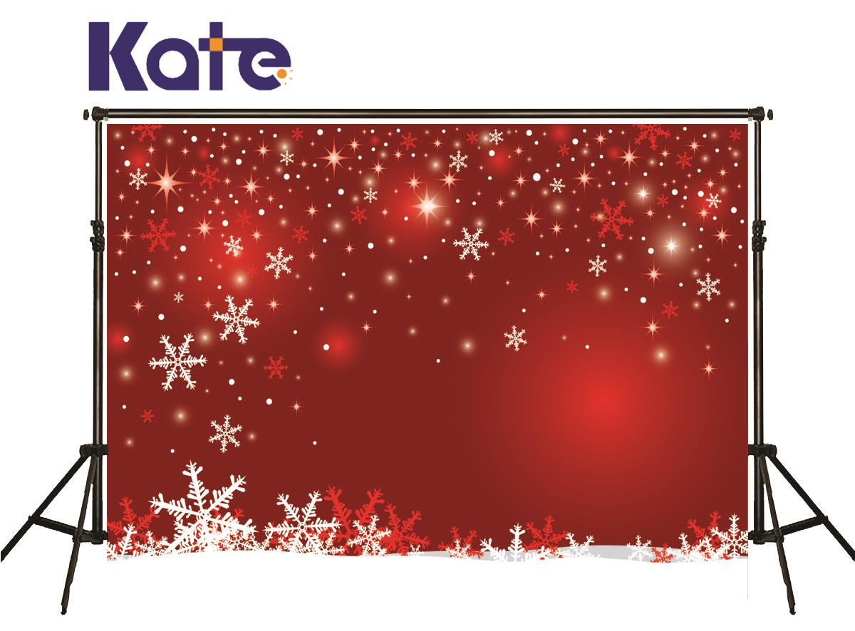 Kate Christmas Background Photography Star Snowflake Spot Backgrounds Red Light Photocall Backdrop For Photo Studio