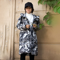 Bilemi boys parka hooded fashion designer handsome children down coat kids winter jacket