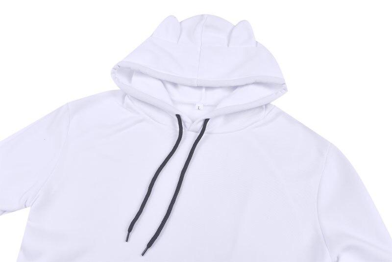Womens Cat Sweatshirts Hoodies Crop Tops 3