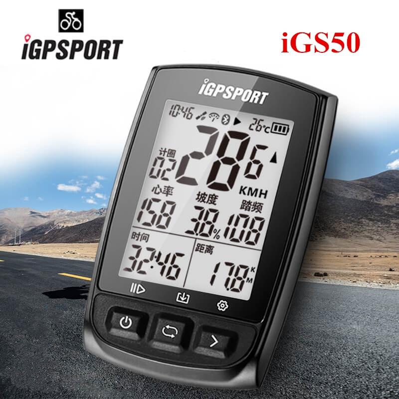 IGPSPORT IGS50E GPS Computer Cycling Bluetooth 4.0 ANT+ Bike Wireless Computer Digital Speedometer Backlight IPX7 Waterproof