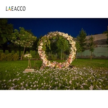 Laeacco Wreath Grassland Wedding Bridal Portrait Photography Backgrounds Customized Photographic Backdrops For Photo Studio 10x20ft hand painted muslin customized backdrops photography wedding 100% cotton photo studio backgrounds for portrait kids pets