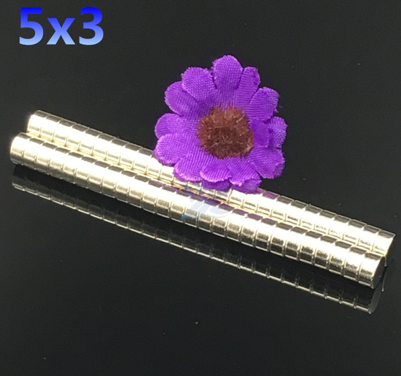 100pcs 5mmx3mm N50 magnets Strong Round Cylinder Neodymium Industrial Magnet 5*3mm  NEW 5x3 Art Craft Connection free shipping 2 pcs new 44mm cylinder