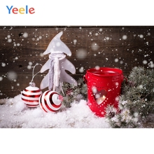 Yeele Christmas Photocall Fallen Snow Ball Lantern Photography Backdrops Personalized Photographic Backgrounds For Photo Studio