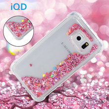 IQD Glitter Case for Samsung Galaxy S9 S8 Plus S7 S6 Edge S5 Cover Soft Bling Luxury Sparkle Heart Quicksand Rhinestone Cases