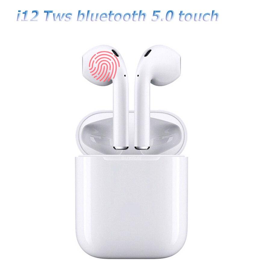 I12 tws Bluetooth écouteurs sans fil écouteurs à commande tactile écouteurs 3D Surround son et étui de charge pour téléphones intelligents