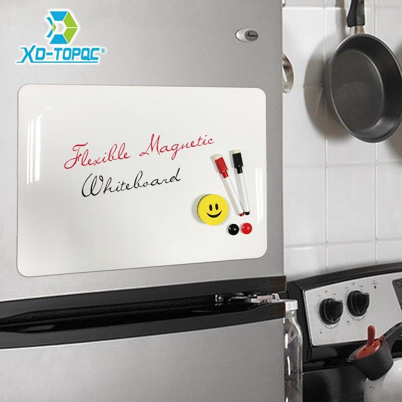 XINDI A3 30*42 centímetros Flexível Imã de geladeira Quadro Branco À Prova D' Água Crianças Desenho Message Board Magnética Geladeira Memo Pad FM02