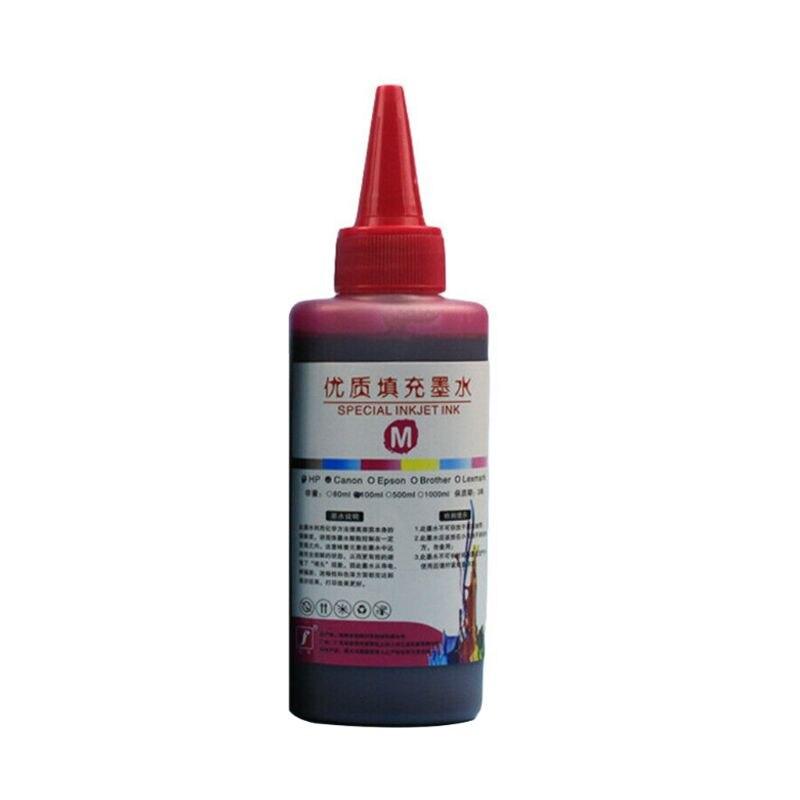 100 мл набор чернил для заправки, универсальный принтер для печати, настольный принтер для Canon PG-245 CL-246 PIXMA MG2420 MG2520 MG2920 MG2922 - Цвет: Red