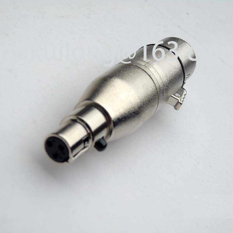 5 шт./лот адаптер xlr для женщин Мини xlr 3 pin гнездовой разъем для микрофона адаптер