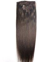 ZZHAIR 100g 160g 16 26 Machine Made Remy Hair 8Pcs Set Clips In 100 Human Hair